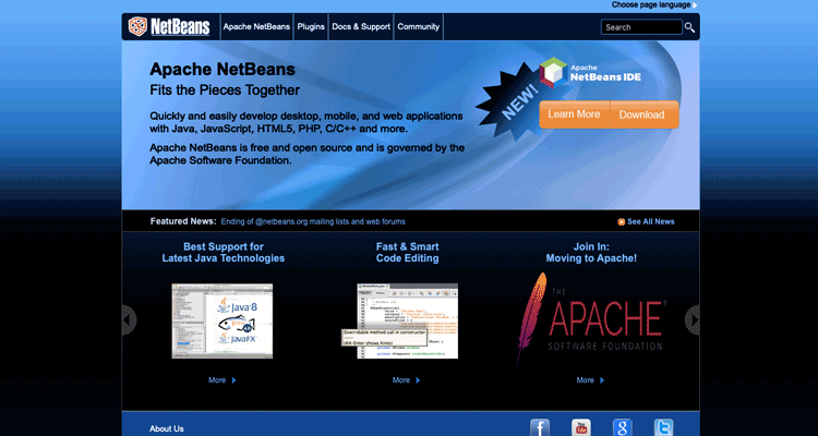 What is an IDE that's perfect for web development? NetBeans.