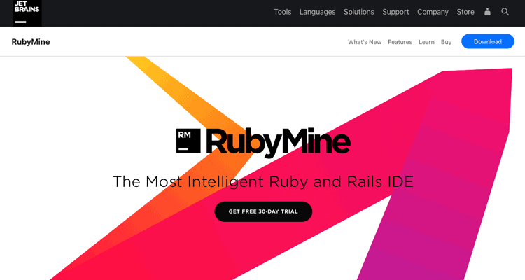 RubyMine website