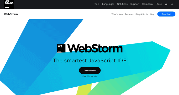 The WebStorm website