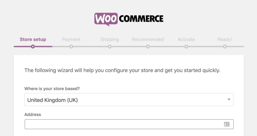 Configurazione di WooCommerce