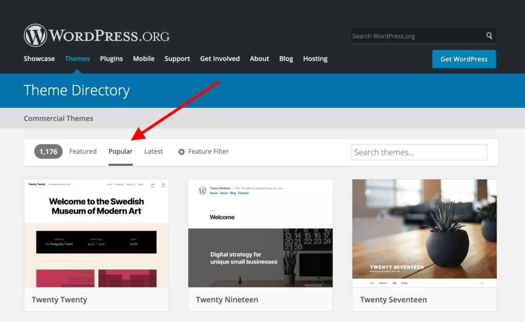 temas populares de wordpress