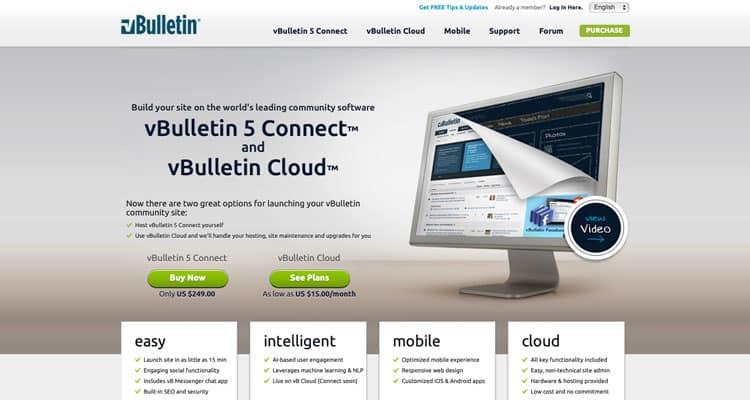 The vBulletin website. It's one of the best forum software.