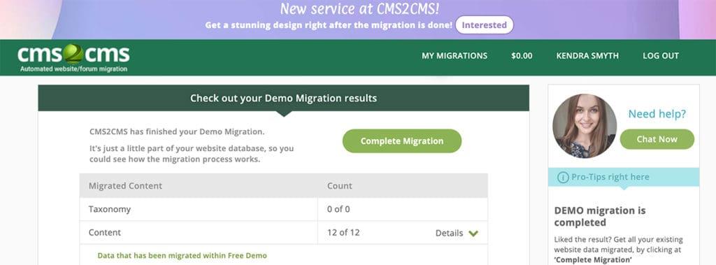 Demo migration complete