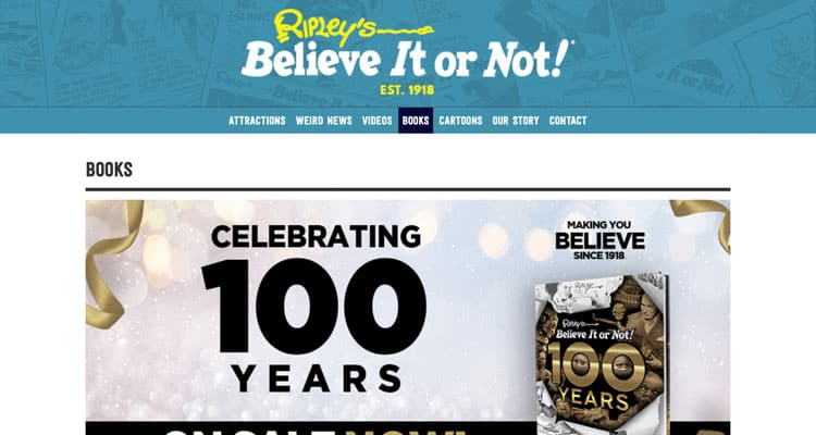 The Ripley's Believe It or Not eCommerce store.