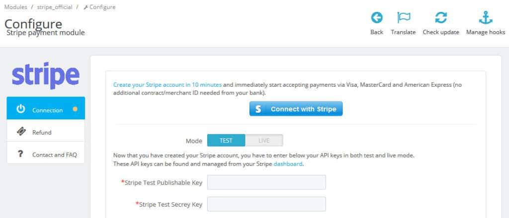 configure payment gateway