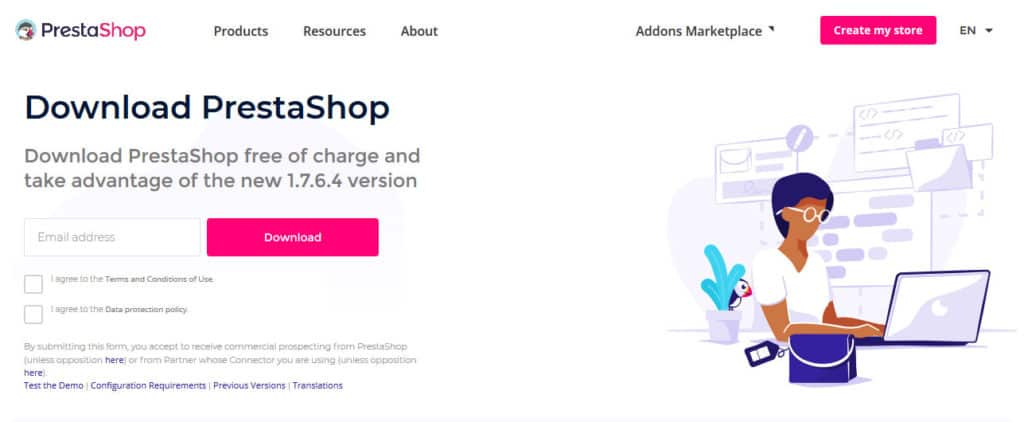 prestashop download page