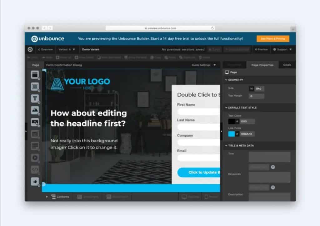 Although tools like Unbounce are powerful, they will not produce results as good as a professional designer.