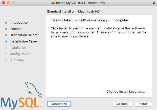 Install MySQL Mac