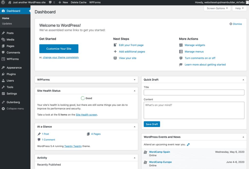 dreamhost inside WordPress