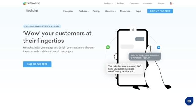 Freshchat customer chat platform
