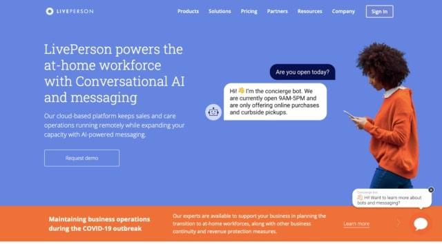 LivePerson conversational AI