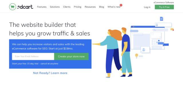 3DCart homepage screenshot