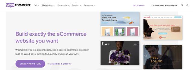 WooCommerce homepage screenshot