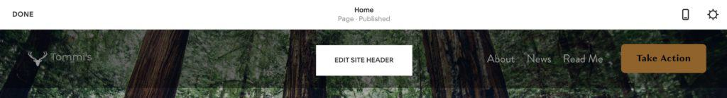 How to use Squarespace: customize the header