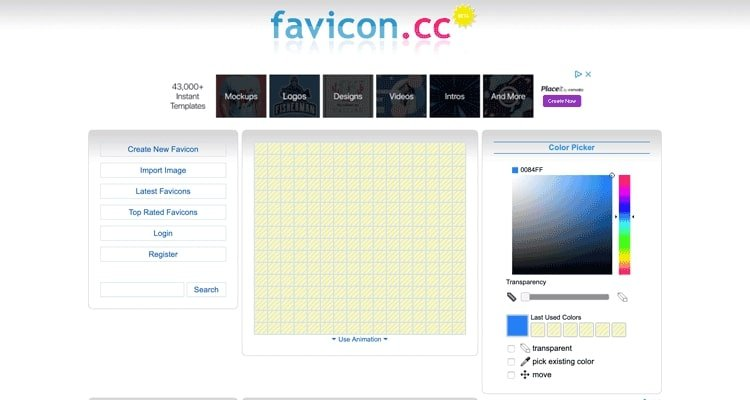 De Favicon.cc-website