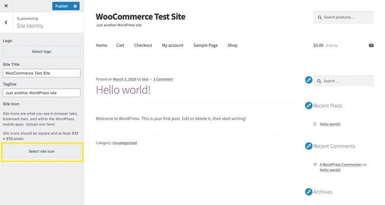 De Customizer in WordPress