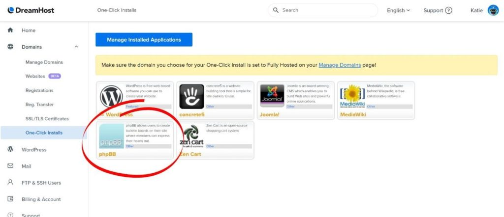 one click installs