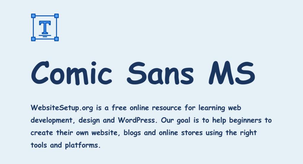 Comic Sans MS