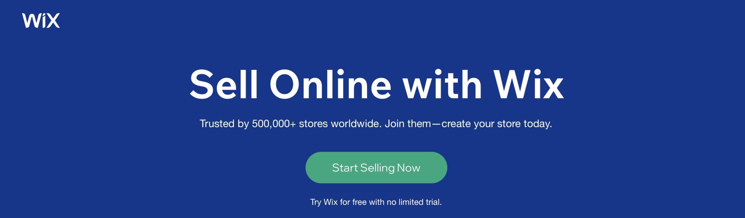 Wix trial screenshot