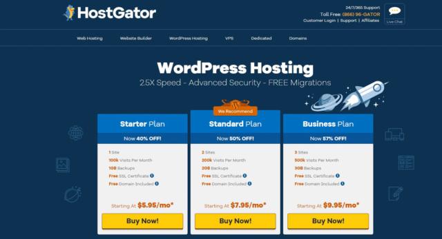 Hébergement WordPress géré par HostGator