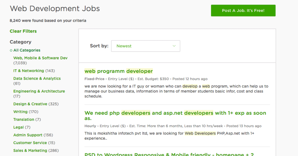 Web Development Jobs