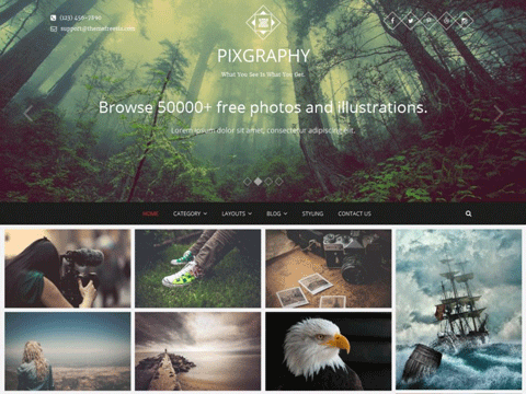 Pixgraphy Photography Theme