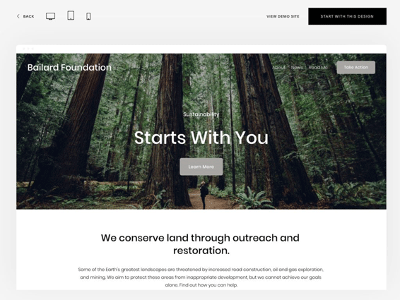 Squarespace preview