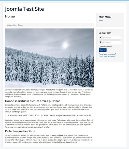 crear un sitio web con el módulo personalizado de joomla en la página de inicio
