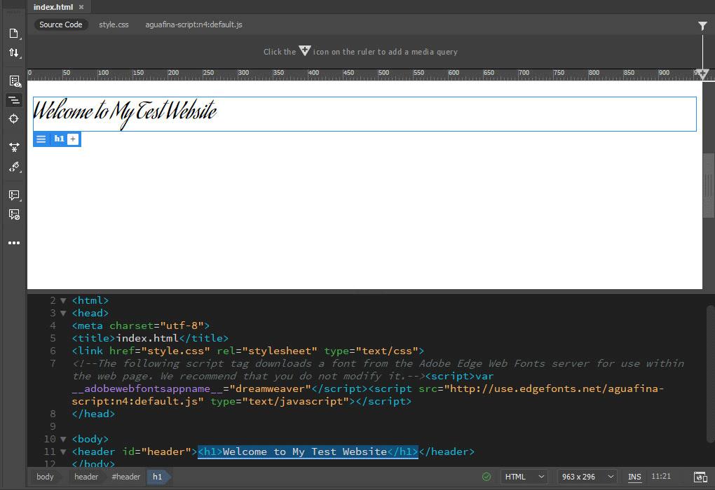 changed font in dreamweaver
