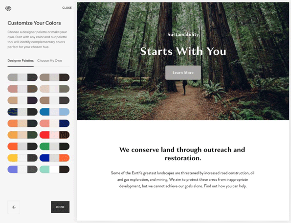 How to use Squarespace: set your colors