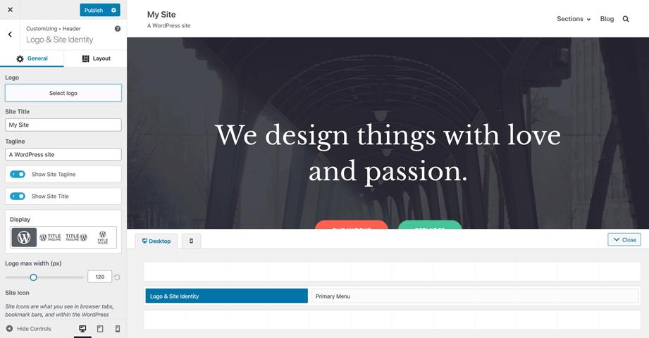 logotipo del personalizador