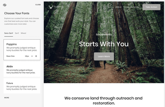 How to use Squarespace: set your fonts