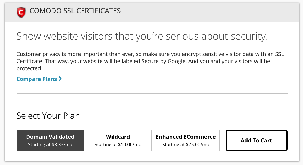 additional domain name cost: premium SSL