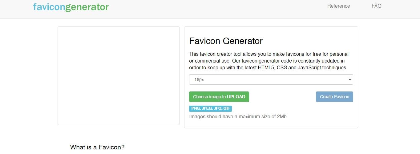 A free favicon generator option.