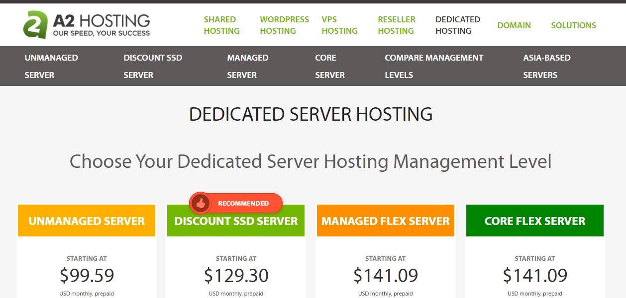 A2 Hosting dedicated server review november