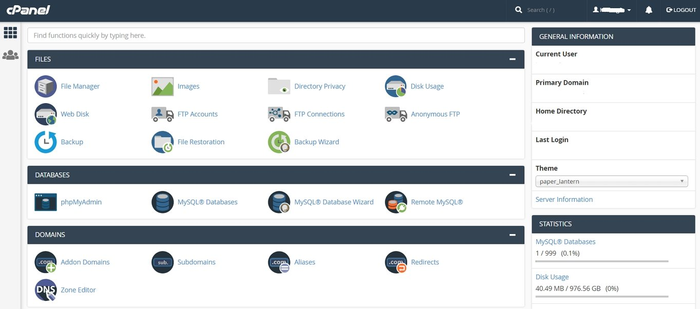 arvixe cpanel