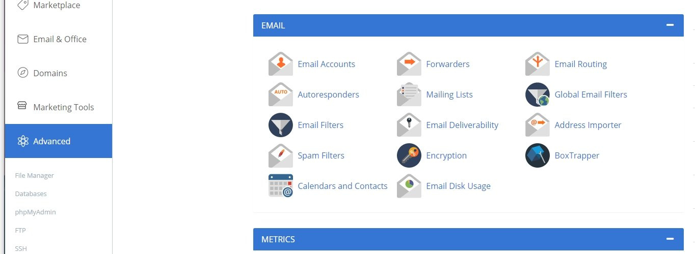 Bluehost how to add an email account