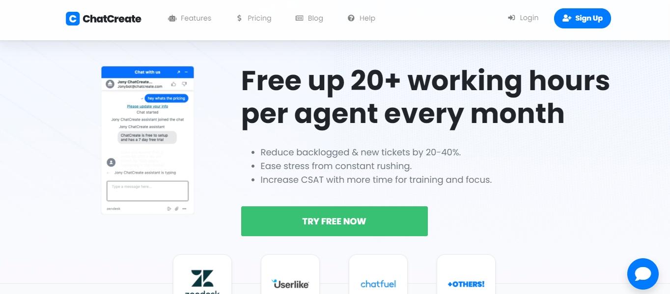 ChatCreate chatbot add-on