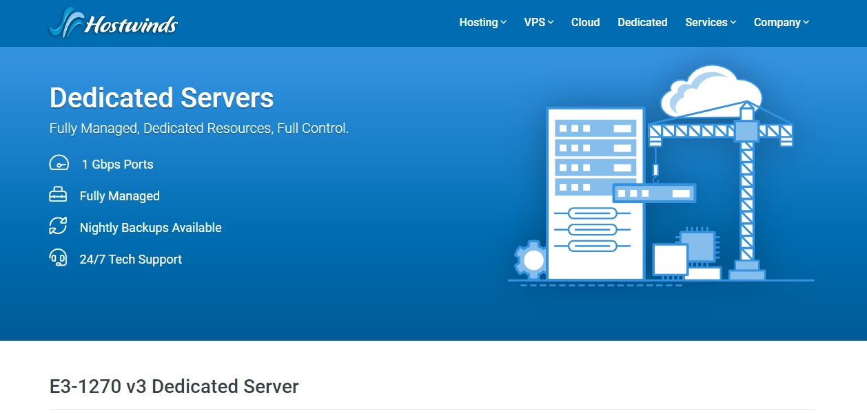 HostWinds dedicated server review