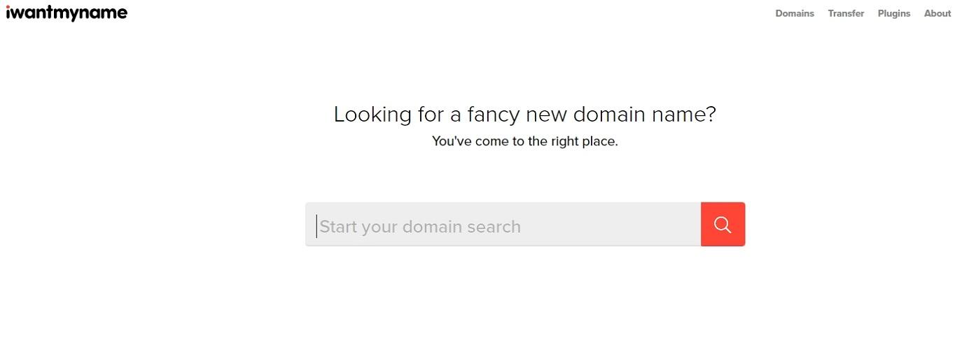 IWantMyName domain name generator