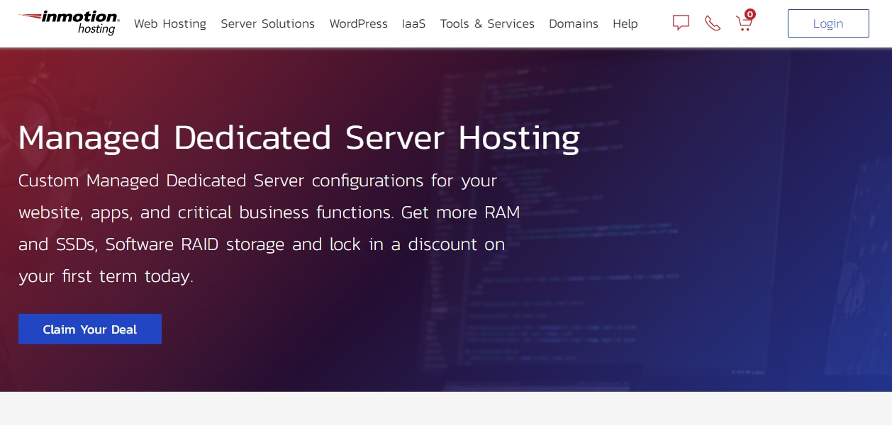 InMotion dedicated server review