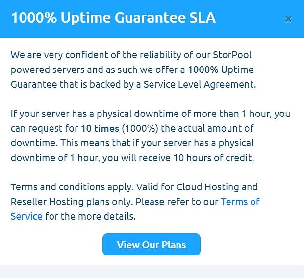 MDDHosting uptime guarantee