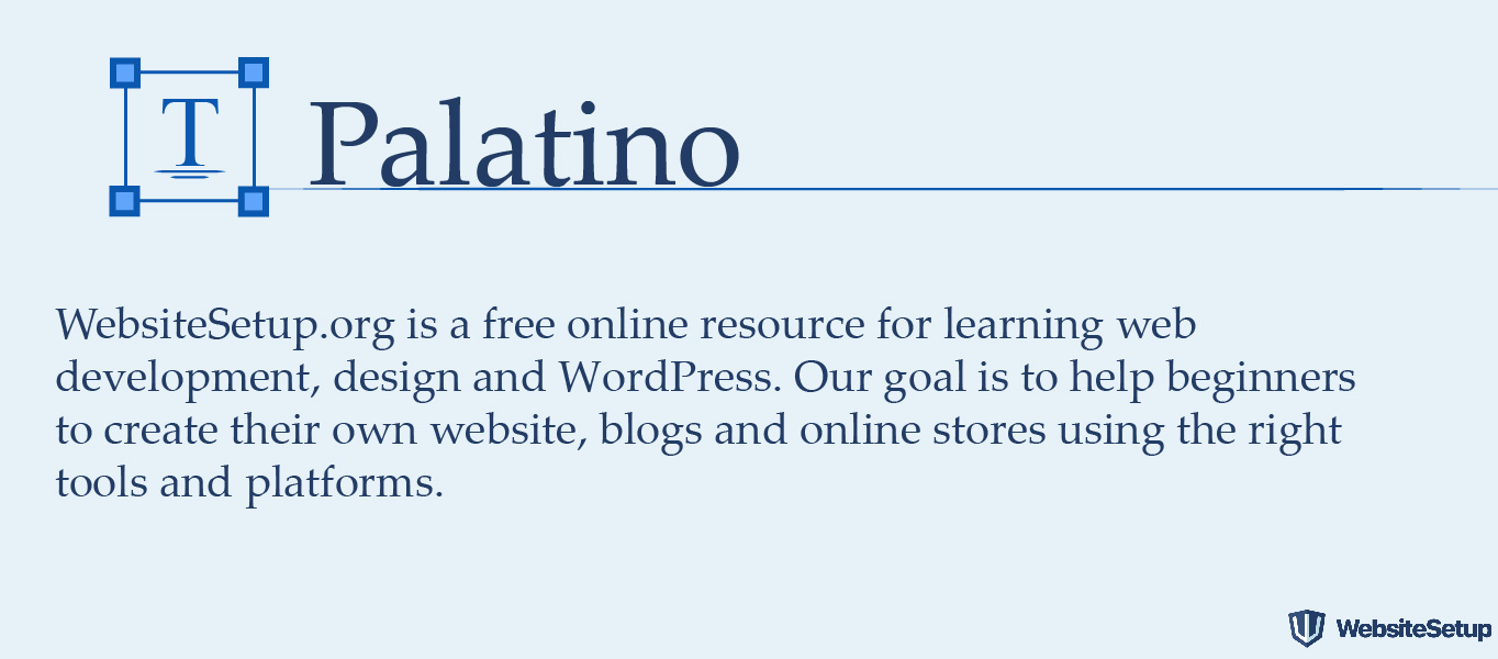 Palatino font
