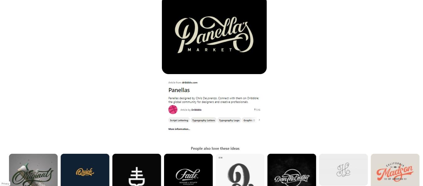 Pinterest logo search