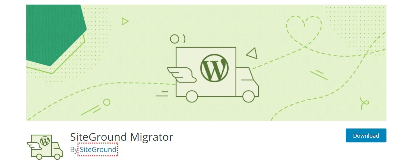 Plugin di migrazione di SiteGround WordPress