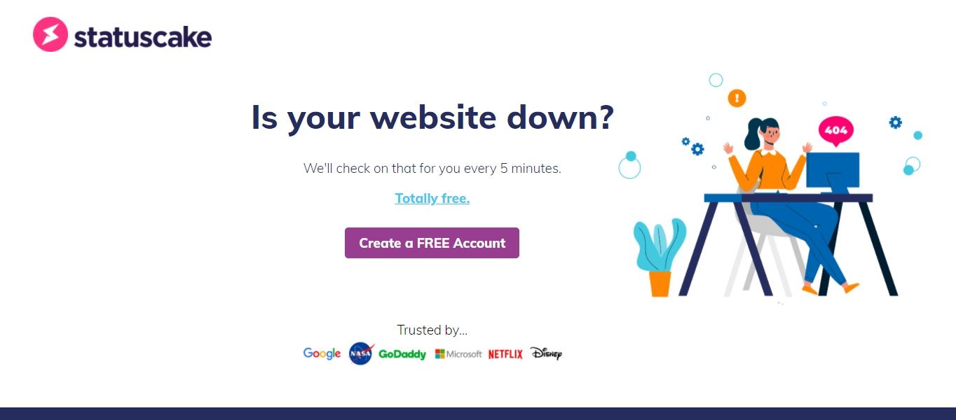 StatusCake website monitoring tool