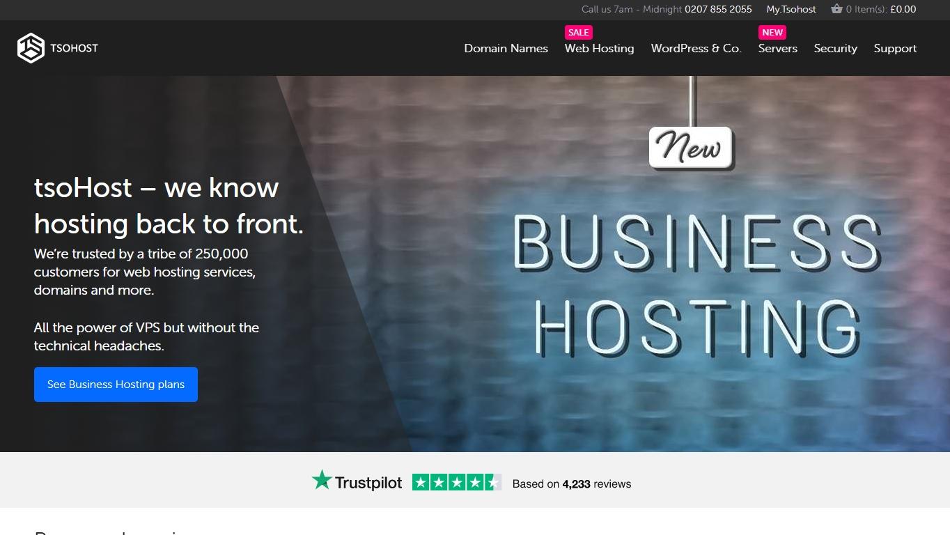 TsoHost hosting review