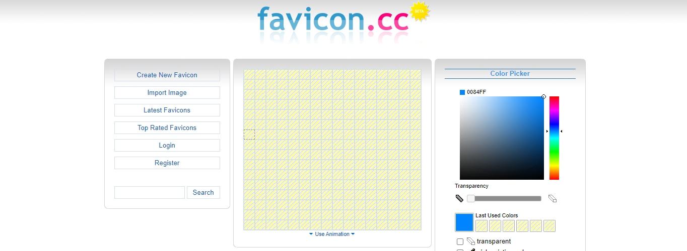 The Favicon.cc website.