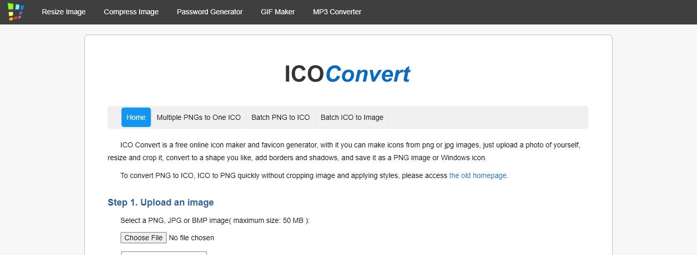 The IcoConvert website.