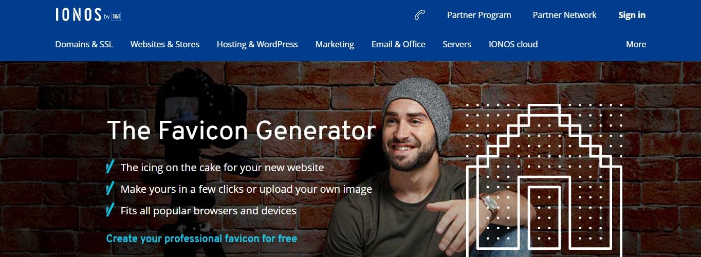 The Sonos free favicon generator website.